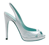 Blue shoe Royalty Free Stock Image