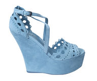 Blue shoe royalty free stock photography