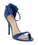Blue shoe Royalty Free Stock Image