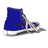 Blue shoe Royalty Free Stock Photos