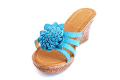 Blue shoe royalty free stock photo