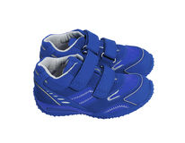 Blue shoes Stock Photography