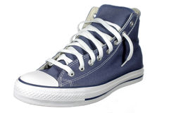Blue shoes. Sport shoes - blue sneaker isolated over white Stock Photos