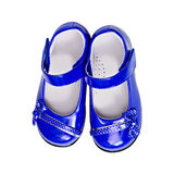 Blue shoes for a child on white Royalty Free Stock Images