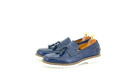 Blue shoes. royalty free stock photography