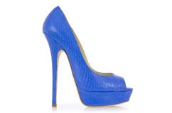 Blue shoes isolated Royalty Free Stock Photo