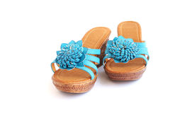 Blue shoes Royalty Free Stock Image