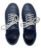 Blue shoes isolated on a white Stock Photography