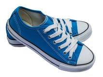 Blue shoes isolated on white background Stock Photo