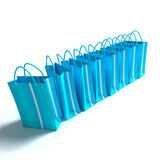Blue shopping Stock Photography