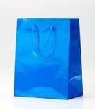 Blue shopping bag. Royalty Free Stock Photo