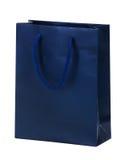 Blue shopping bag. Stock Photos