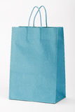 Blue shopping bag. Royalty Free Stock Image