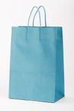 Blue shopping bag. Royalty Free Stock Image