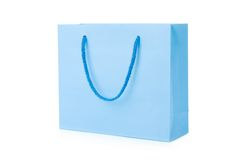 Blue shopping bag Stock Image