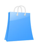 Blue shopping bag Royalty Free Stock Image