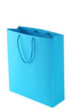 Blue shopping bag Stock Photos