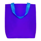 Blue shopping bag isolated on white Royalty Free Stock Photos