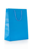 Blue shopping bag in paper Royalty Free Stock Images