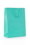 Blue shopping bag in paper Royalty Free Stock Photo