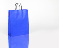 Blue shopping bag with space for your text or logo Stock Photo