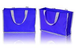 Blue shopping bag Stock Photography