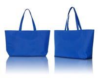 Blue shopping bag Stock Image