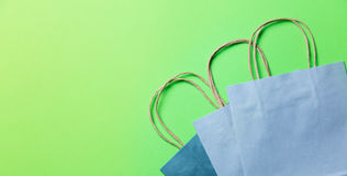Blue shopping bags Royalty Free Stock Photo