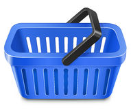 Blue shopping basket Stock Photography