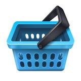 Blue shopping basket icon 10eps Stock Photo