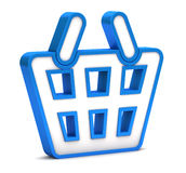 Blue shopping basket icon Royalty Free Stock Photography
