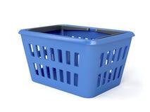 Blue shopping basket Royalty Free Stock Image