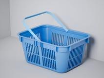 Blue shopping basket Stock Photo