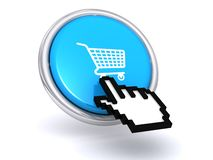 Blue shopping button royalty free illustration