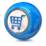 Blue Shopping cart icon Stock Photos