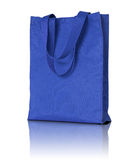 Blue shopping fabric bag Royalty Free Stock Photos