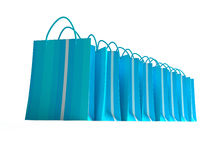 Blue shopping spree Royalty Free Stock Image
