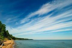 Blue shore Stock Images