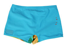 Blue shorts. Isolated on white Royalty Free Stock Images