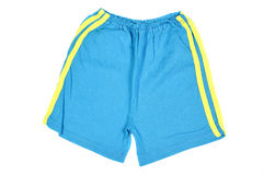 Blue shorts. Children's wear - shorts isolated over white background Royalty Free Stock Photo