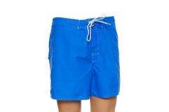 Blue shorts isolated. On the white background Stock Photo
