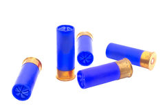 Blue shotgun shell Stock Photography