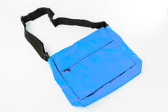 Blue Shoulder bag isolate Stock Images