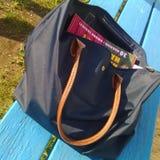 Blue shoulder  bag Royalty Free Stock Image