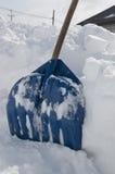 Blue shove snow winter Royalty Free Stock Image