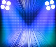 Blue Show Room Spotlights Stage Background Stock Photography