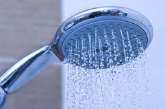Blue shower head Stock Photos