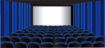 Blue showing room; cinema Royalty Free Stock Photo