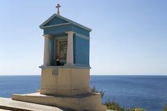 Blue Shrine 2. A small blue shrine on the roadside close to the coast on Malta Stock Photography