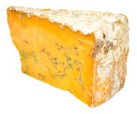 Blue Shropshire Cheese Royalty Free Stock Images